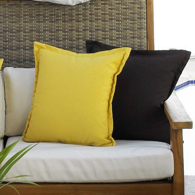 Hospitality Rattan Cushions Outdoor Throw Pillows Color: Canvas Heather Beige