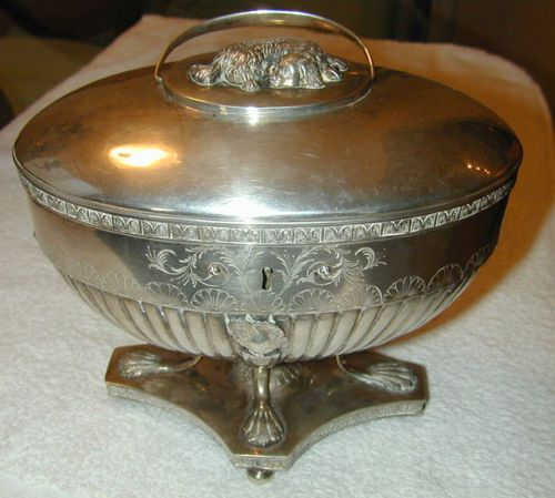 Completed restoration of a locking sugar bowl. From http://cranejewelers.com/
