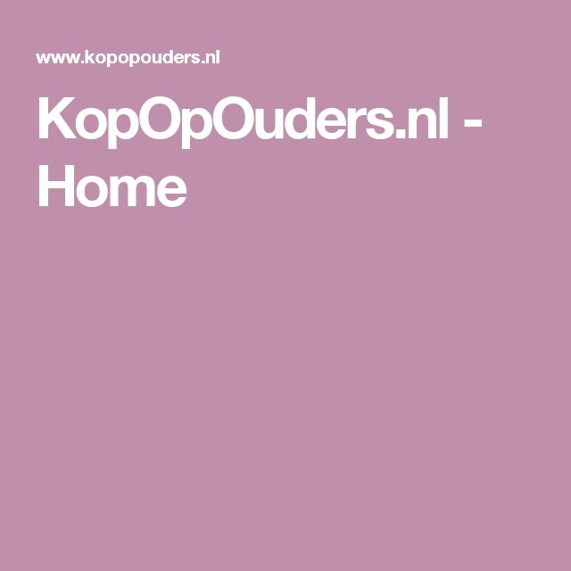 KopOpOuders.nl - Home