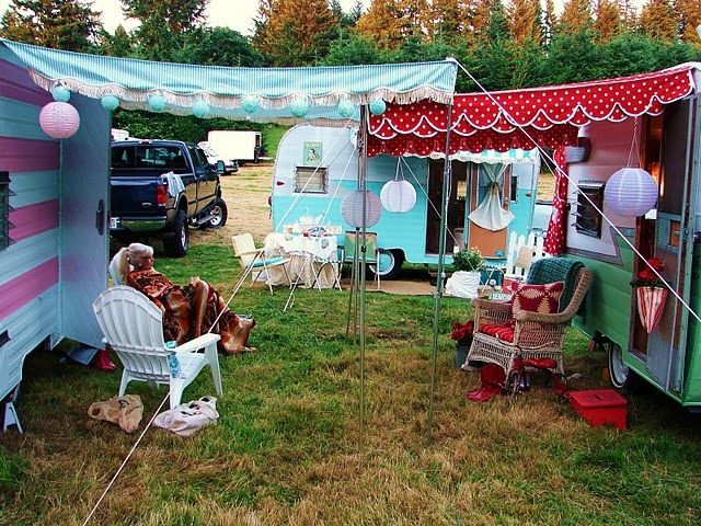 Hen Do Ideas- Hire vintage caravans for a glamping weekend. Lovely.