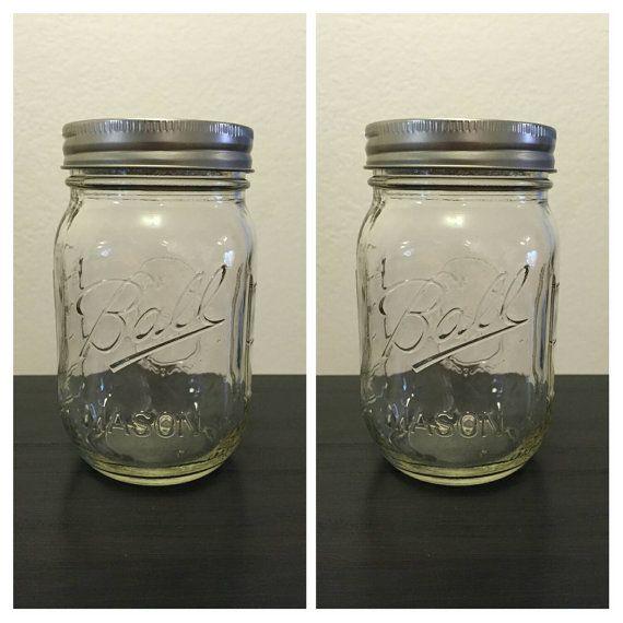 16oz Mason Jars Mason Jars Mason Jar Bulk by MateriaQuality
