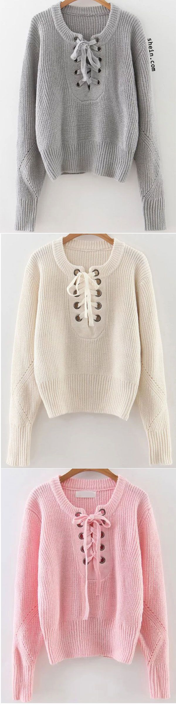 This basic sweater is suitable for a wide range of combinations.
