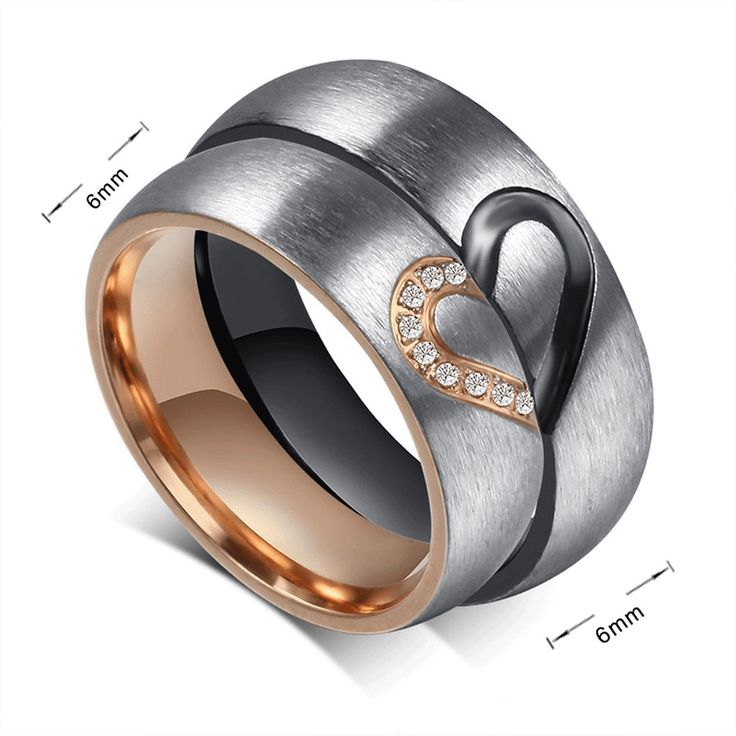 Southern Sisters Designs - Heart Couples Ring Set Titanium - His and Hers Set, $39.95 (http://www.southernsistersdesigns.com/heart-couples-ring-set-titanium-his-and-hers-set/)