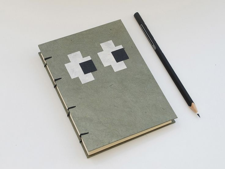 Eyes handmade coptic stitched notebook: Olive Green, Neutral & Black. Picked from Picklist.me