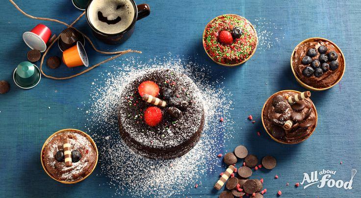 초콜릿이 듬뿍, 파티 컵 케이크 - 올어바웃푸드