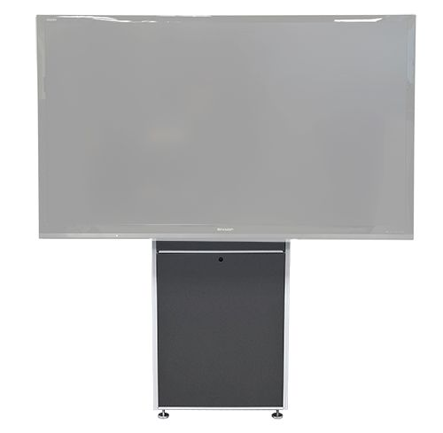 The LFT7000WM-S heavy duty wall mounted lift for single large TV's and interactive displays. While anchored to a wall, its designed to keep the weight of unit and display on the floor. Ideal for environments where adjustable height or ADA is required