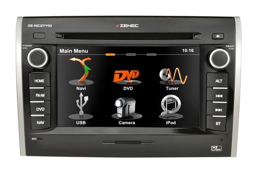 #Zenec ZE-NC3711D - Navigatie pasklaar voor #Fiat #Ducato Camper. Met Camper en Caravan navigatie Software. Zeer complete pasvorm navigatie met groot touchscreen en fijne functies zoals Parrot Bluetooth carkit. Het kijken van DVD films is geen probleem.