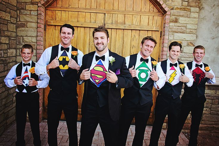 Wedding Picture Idea, groom, Groomsmen Super Hero Shirts,  - Sundance Photography, Clauren Ridge