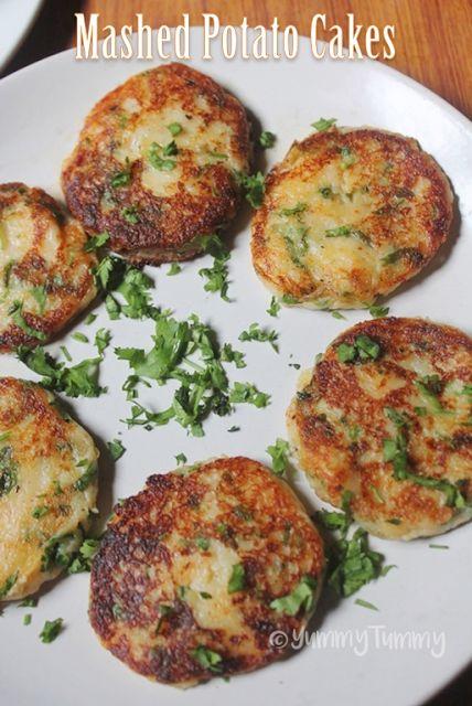 YUMMY TUMMY: Cheesy Mashed Potato Cakes Recipe