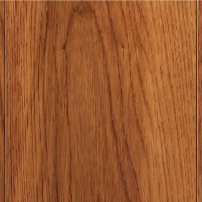 Home Legend   High Gloss Oak Gunstock Finish In. Thick X In. W X Random  Length Click Lock Hardwood Flooring, Sq.