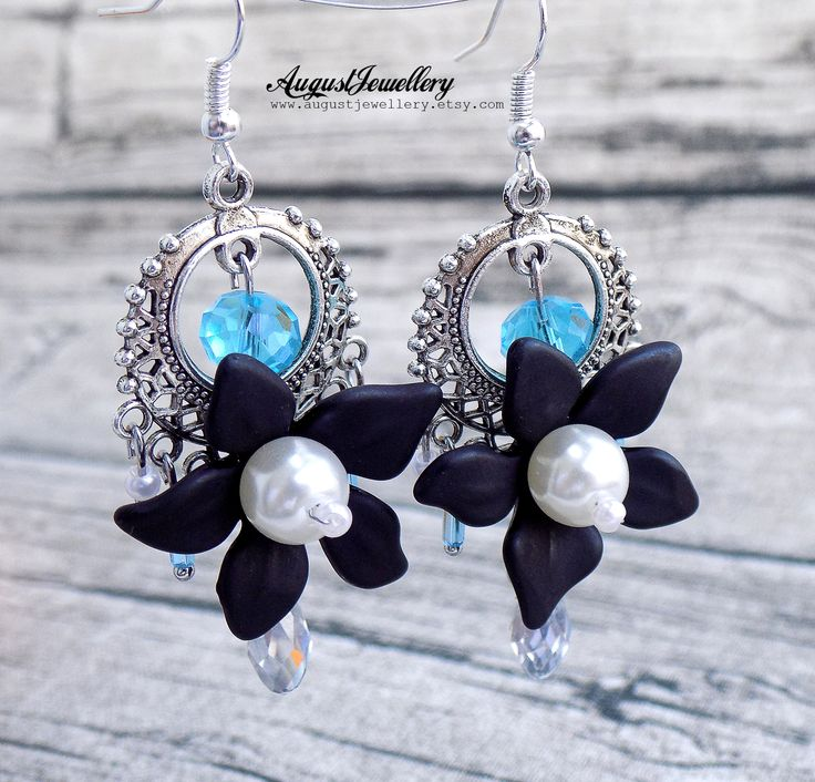 Excited to share the latest addition to my #etsy shop: Flower Earring - Elven - Fantasy Earring - Skyrim - Wedding Earring - Handmade Earring - Crystal Earring http://etsy.me/2zz90GU #jewelry #earrings #silver #wedding #halloween #black #elvenearring #flowerearring #fantasyearrin