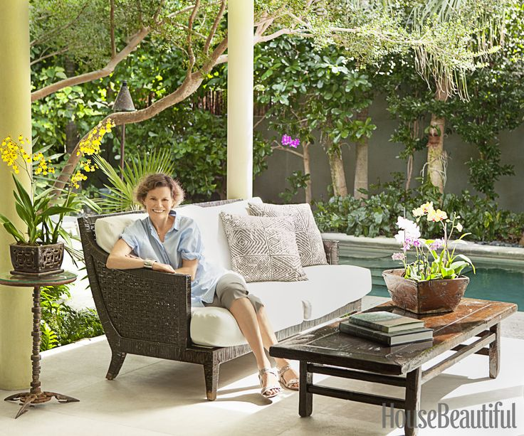 Judy Blume, Author, on her Key West patio