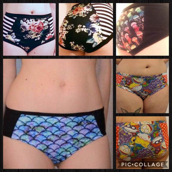 The Panel Undies Pattern is a versatile sewing pattern to give you the most comfortable underwear with a built in way to add fun color blocking! They are virtually wedgie-proof, and come with several silhouette and edging options to give you exactly the fit and feel you want. This pattern includes options for hipster, mid-rise brief, and high-rise brief. With detailed instructions for edging them using lingerie elastic, FOE, binding, or bands as well as instructions for optional ruching…