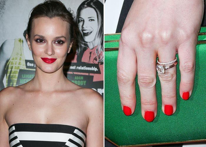 Celebrity wedding rings Leighton Meester Image credit - evoke.ie