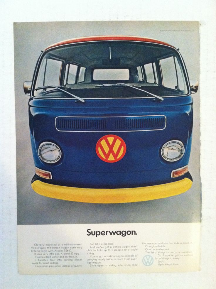 1965 volkswagon bus original vw ad supervan vintage. Black Bedroom Furniture Sets. Home Design Ideas