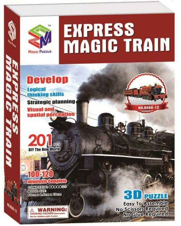 Magic Puzzle объемный Express Magic Train 201 эл