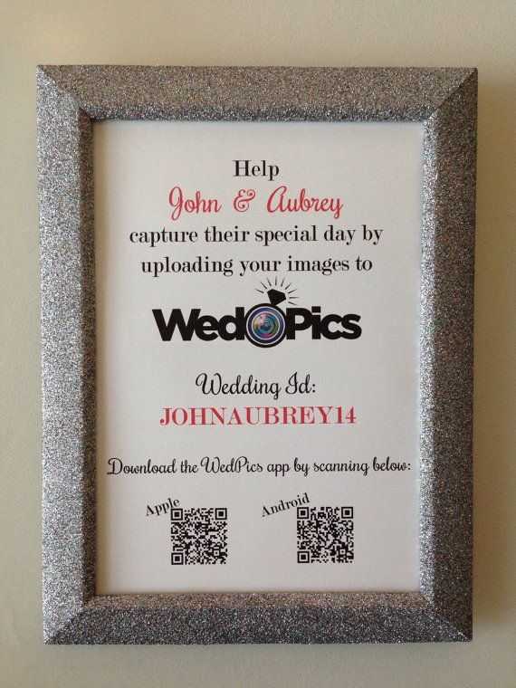 WedPics Wedding Sign and Glittered Frame With door BlingSparklesOhMy