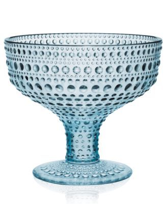 Iittala Kastehelmi Blue Footed Bowl Finland