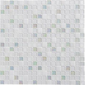 Mosaïque Glossy, blanc, 1.4x1.4 cm