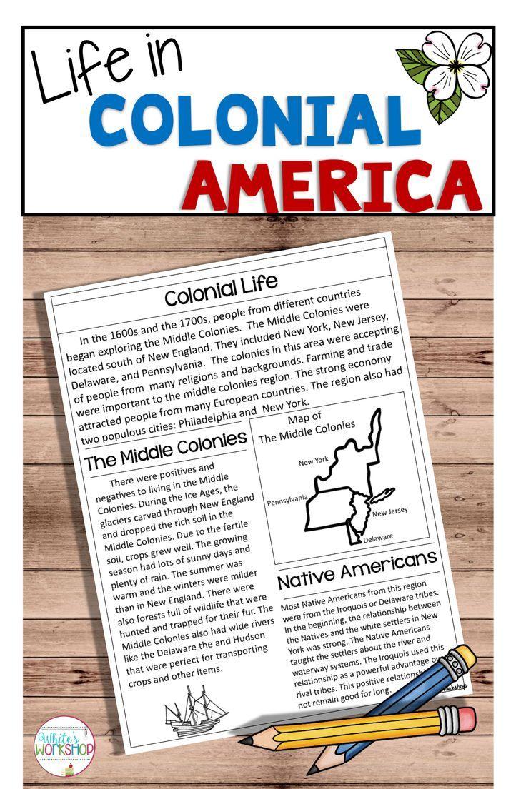 Colonial America Unit - The Thirteen Colonies Bundle   Social studies [ 1105 x 736 Pixel ]