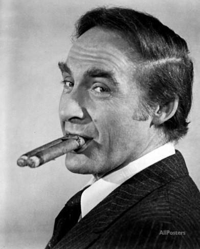 Sid Caesar Smoking Two Cigars at the Same Time Photo