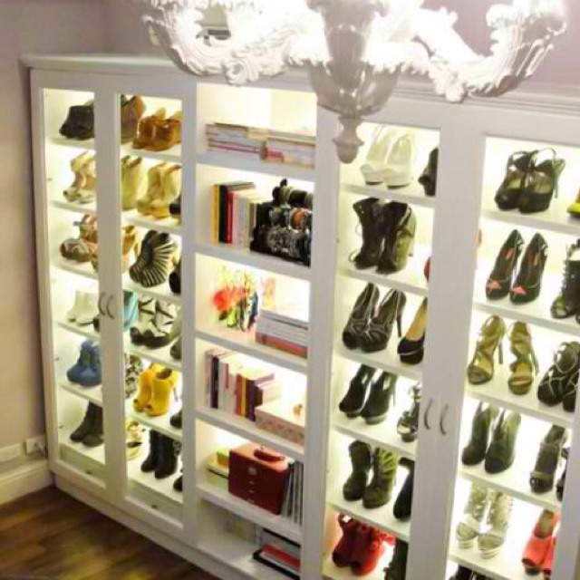 Love, need lights for shoe shelves in the new house!