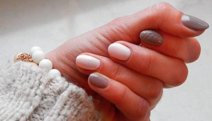 #Love #semilac #hybrid #hybrydydomowejroboty #hybryda #wiosna #lovely #nails  Semilac biscuits i Little stone