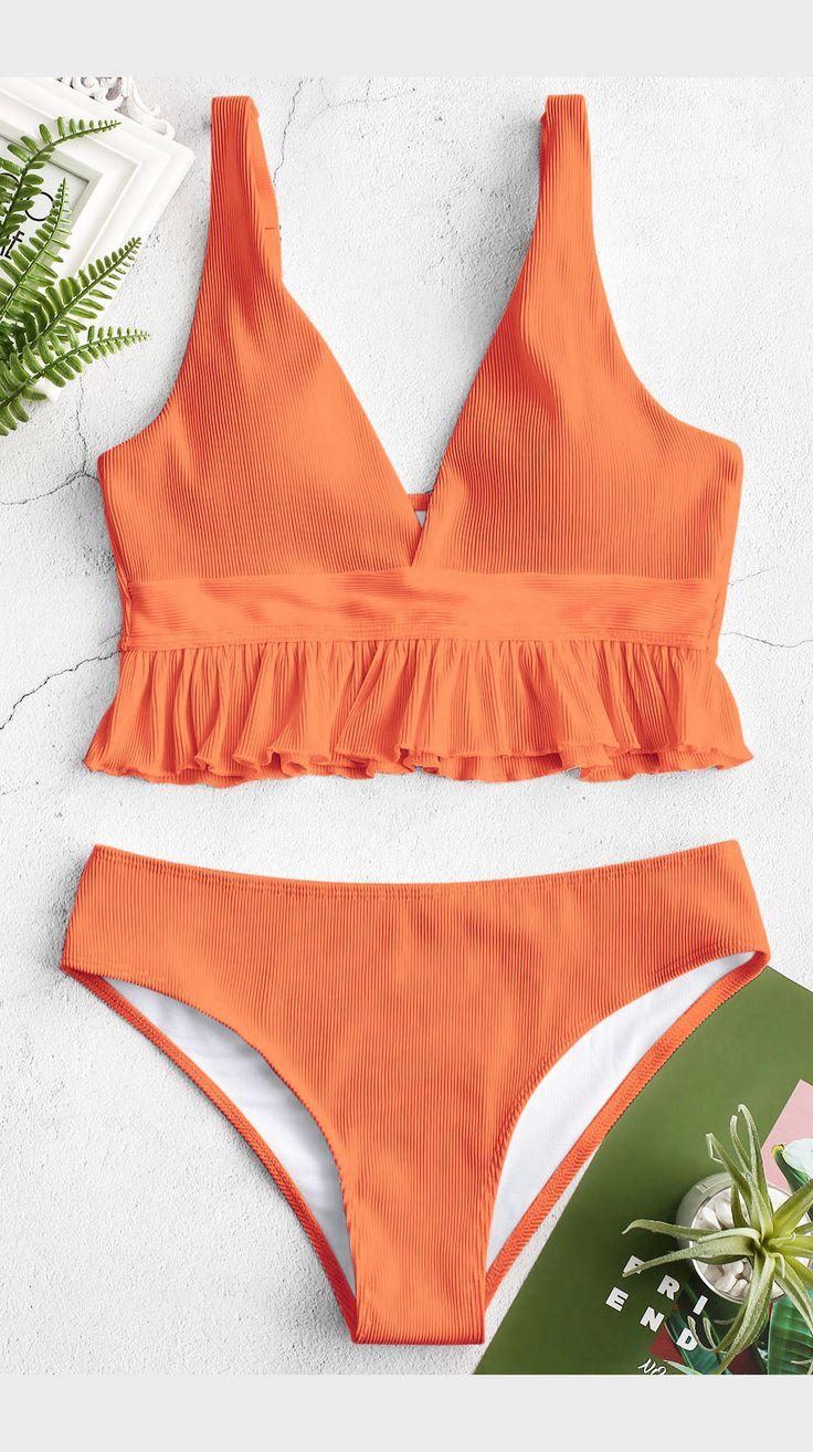 Sweet Ruffled Tankini bikini Set you have to try!! 8
