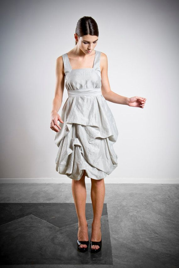 Shop the look: www.elikainlove.com The modern Delphi dress, a romantically draped version of our Daphne dress. By Elika In Love.  This dress looks good on pretty much everyone! It's so gorgeous and modern while still being incredibly comfortable and elegant.
