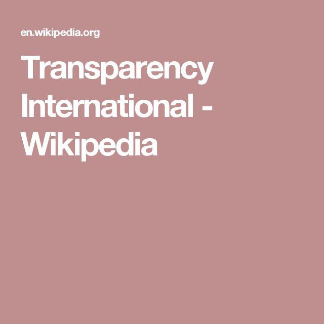 Transparency International - Wikipedia