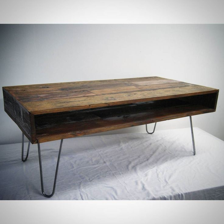 #floorboard #box #coffeetable finished in Jacobean dark oak oil. Skinny 2 prong #hairpinlegs with bare steel finish. #sawnlondon
