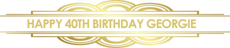 Gatsby Gold Art Deco Party Personalised Banners - We Print Your Text