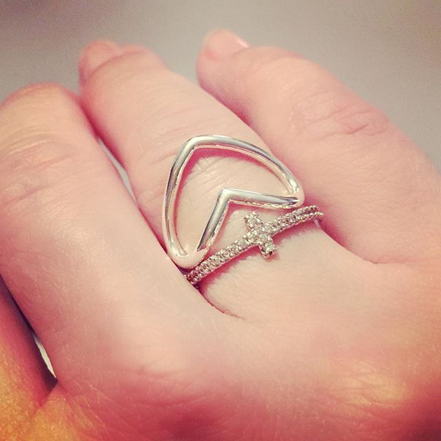FINALLY!!! My favorite combination of rings in silver!!! #sweetiepie #adore #premiereveryday #pdstyle