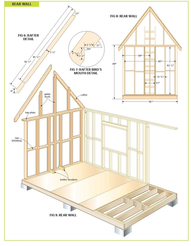 Free wood cabin plans step by step guide to building a for Tiny home construction plans
