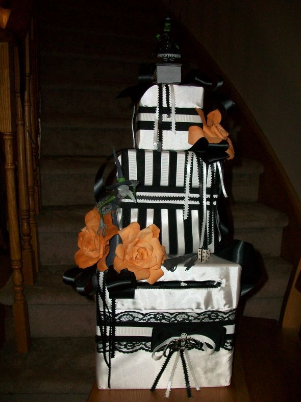 Wedding Black Cardbox Halloween Nightmare Before Christmas Minus The Orange Flowers