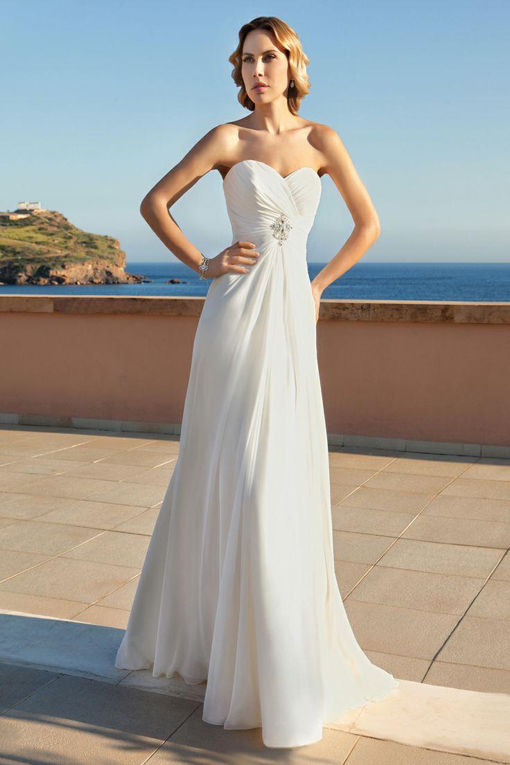 Best flowing strapless wedding dresses images on pinterest
