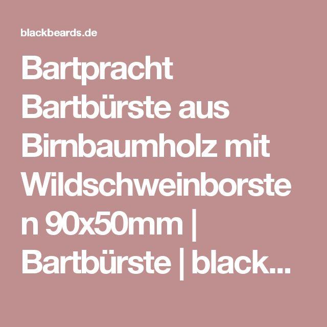 Bartpracht Bartbürste aus Birnbaumholz mit Wildschweinborsten 90x50mm | Bartbürste | blackbeards