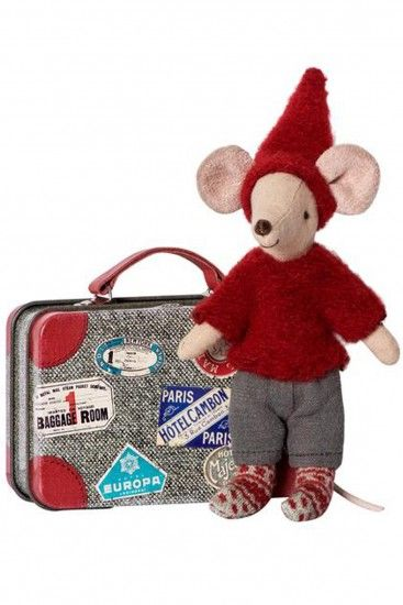 Maileg Travel Pixy Mouse in Tin Suitcase | Little Skye 2017
