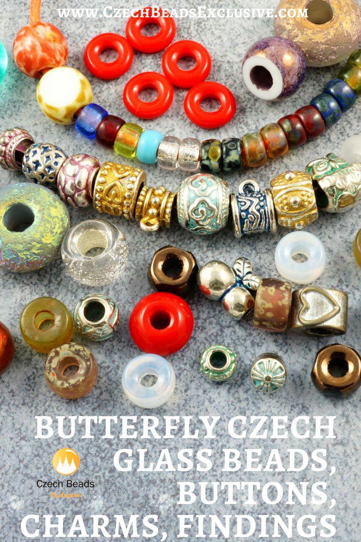 European Large Hole Czech Glass Beads | SAVE it! | CzechBeadsExclusive.com #czechbeadsexclusive #czechbeads