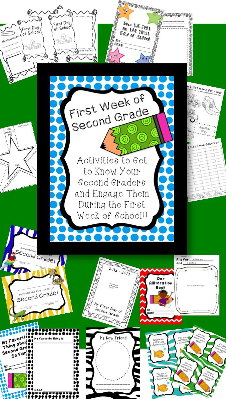 Great activities for a great start to second grade!!!!