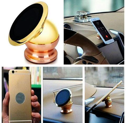 360 Degree Gold Car Phone Holder - Magnetic 360 Swivel Holder