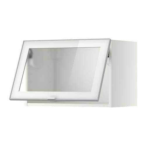 Metod Bovenkast Horizontaal M Vitrinedeur Wit Jutis Frosted Glas 60x40 Cm Ikea Meuble Mural Ikea Glass Door