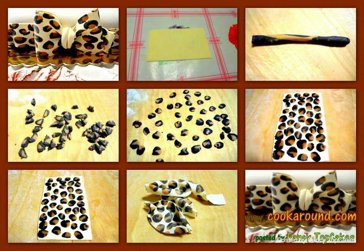 Leopard fondant