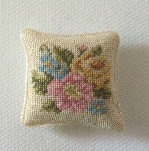Gullvie Larsson petit point pillow