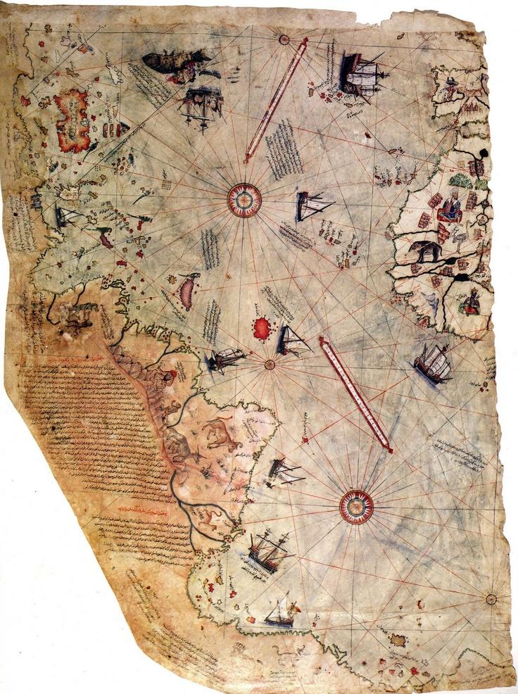 Piri Reis map 1513 Terra Australis
