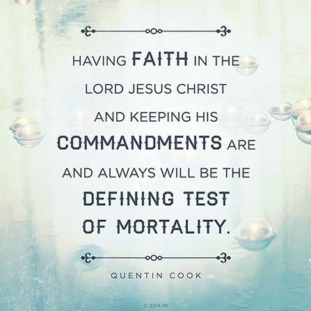 The defining test of mortality elder quentin l cook pinterest