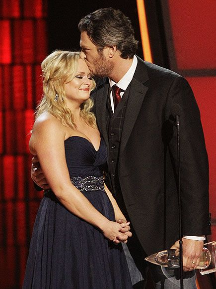 """""""I just needed the right person to write this song with, and the right person to sing it.""""  Song of the Year winners Blake Shelton, Miranda Lambert for """"Over You"""""""