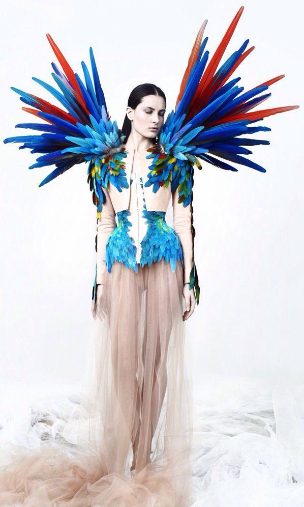 Costume de plumes