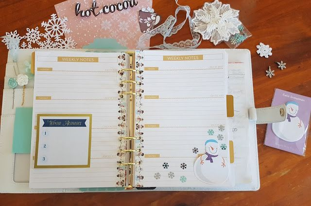 Planner spread using the July 2017 kit from Scrapping Fun Kits