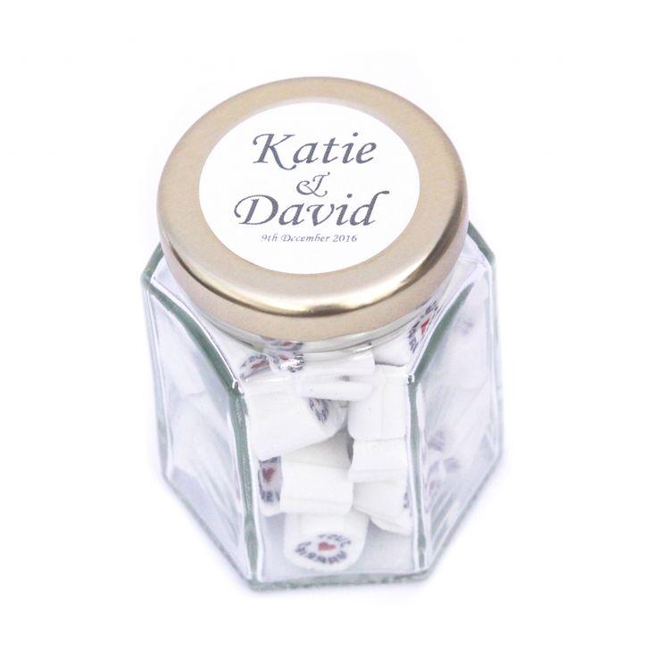 Stickers Designer candy personalised wedding bomboniere favors elegant cute small pretty modern